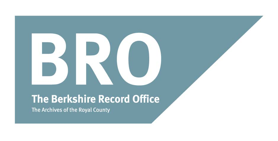 Logo: Blue rectangle with 'BRO', 'The Berkshire Record Office', and 'The Archives of the Royal County' across it in white font.